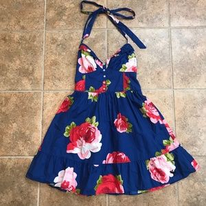 NWT Abercrombie & Fitch Floral Halter Dress - S